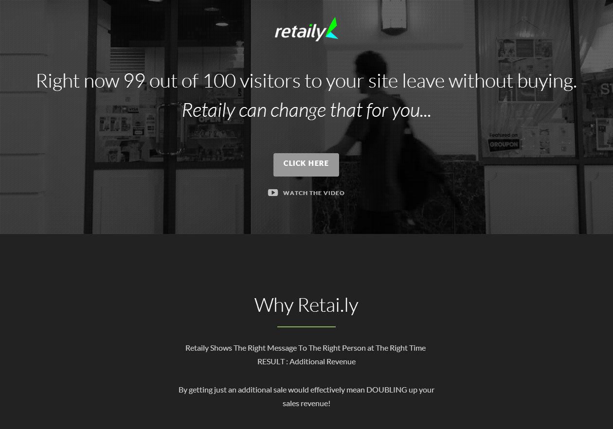 Retaily Main Page